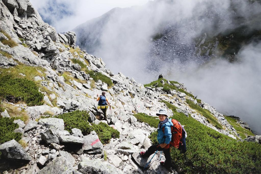 Marcheurs à la montagne
